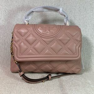 Tory Burch Top Handle Soft Fleming Satchel